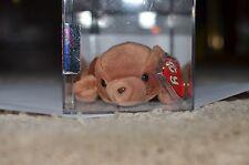 MWMT MQ Authenticated TY beanie baby Brownie Korean 1st gen True Blue Beans Rare
