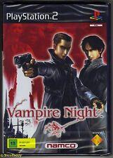 PS2 Vampire Night, UK Pal Scanda Edition, Brand New & Sony Factory Sealed