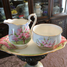 Royal Albert Blossom Time 3 Piece Set Cream Sugar and Plate