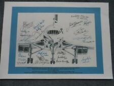 Last Flight of British Airways Concorde Crew Drawing Print Fully Signed Copy