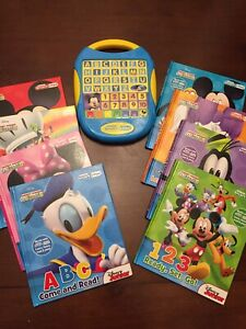 Disney My First Smart Pad Electronic Toy Includes 8 Books Requires AAA Batteries