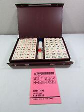 Vintage White Mahjong Mah Jong MahJongg 144 Tiles Game Set in Case