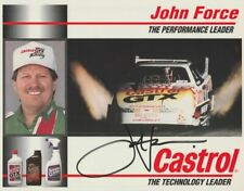 1994 John Force signed Castrol Chevy Lumina Funny Car NHRA postcard