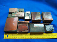 10 Antique Letterpress LOT Block Printer Advertising Cameo Leather VTG Wood #4