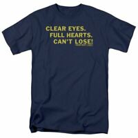 Friday Night Lights Clear Eyes T Shirt Mens Licensed Classic TV Show Navy