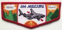 MALIBU OA LODGE 566 BSA WESTERN LOS ANGELES SCOUT PATCH 2004 NOAC DELEGATE FLAP