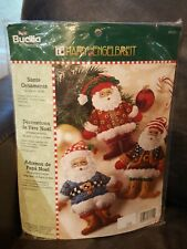 244-Bucilla Mary Engelbreit Santa Ornaments Kit #85310 New