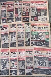 Vintage Hockey News magazine newspaper Lot volume 25, issues 3-5 7-18 1971 1972
