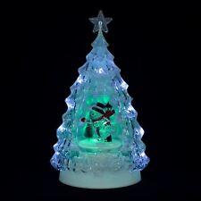 Patin à glace Bonhomme De Neige Clair Arbre de Noël Lumière DEL Moving 33 cm Décoration
