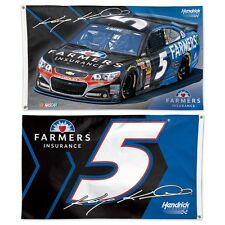 KASEY KAHNE #5 FARMERS INSURANCE 3'X5' DELUXE 2-SIDED FLAG BRAND NEW WINCRAFT