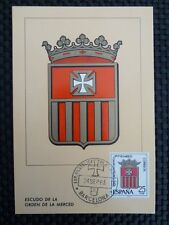 SPAIN MK 1963 ESCUDO ORDEN MERCED WAPPEN MAXIMUMKARTE MAXIMUM CARD MC CM c8733