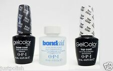 OPI GELCOLOR Gel Color Base Coat + Bondaid 1oz + Top Coat 3 bottles