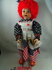 "Paradise Galleries Rag Time Molly American Pride Collection 24"" Porcelain Doll"