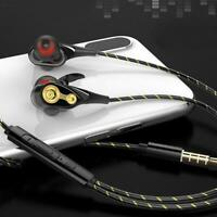 3.5mm HIFI Super Bass Headset Wired In-Ear Earphone Stereo Earbuds J4Z7