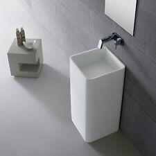 freistehendes Waschbecken Standwaschbecken Waschtisch Mineralguß weiß matt 44081