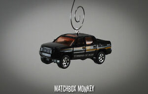 2007 Honda Ridgeline 4x4 Pickup Truck Custom Christmas Ornament 1/64 Scale