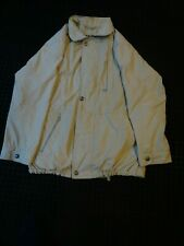 Vintage Retro 80s Mens Cream Bush Classic Coat Size Mens Regular 42 jacket