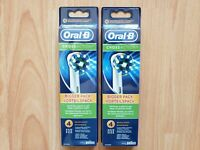 8 Braun Oral B Cross Action Toothbrush Replacement Heads 8 Brushes EB 50-4