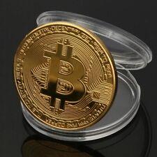 Bitcoin Münze Gold Medaille Kryptowährung Kryptomünze