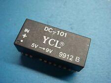 (1) YCL DC-101 LAN DC/DC CONVERTER ISOLATION 500V POWER IN 5V OUT 9V 23 PIN DIP