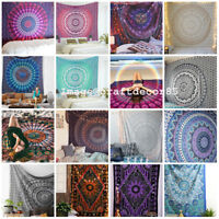 Mandala Bedding Bedspread Coverlet Bohemian Wall Hanging Indian Tapestry Queen