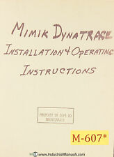 Mimik Dynatrace Operations Service Maintenance and Wiring Manual Year (1964)