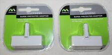 2x Masterplug Telephone Surge Adapters - BNIP