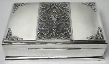 RARE STERLING GIFT BOX US NAVY CAPTAIN FROM ROYAL THAI NAVY ADMIRAL DATED 1962