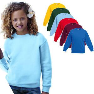 Fruit of the Loom Kinder Sweatshirt Kids Pullover Pulli Jacke Shirt