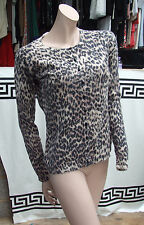 Warehouse Stunnig Leopard Animal Skin Print Button Down Knitted Cardi Knit UK12