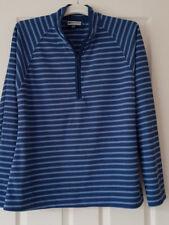 Mountain Warehouse Womens Zip Neck Top Blue Stripe Size UK18/20(EU 46)
