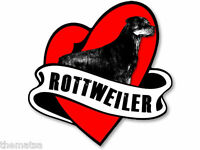 "ROTTWEILER HEART BANNER 5"" TOOLBOX HELMET DECAL STICKER USA MADE"
