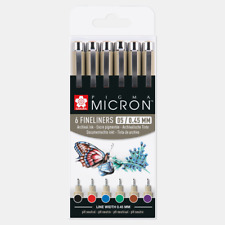 Sakura Pigma Micron 05   0.45mm Line   Pack 6   Base Colours