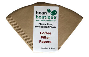 bean.boutique Plastic Free Unbleached Paper, Plastic Free Coffee Filter Papers