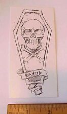 Rancid Skull & Crossbones Cross Bones In Coffin Peel-Off Sticker