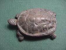 Vintage Cast Iron Metal Turtle Trinket Box Ashtray