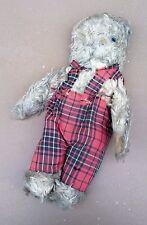 Ancien ours en peluche salopette jouet jeu articulé vintage old teddy bear toy