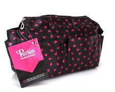 "Periea ""Sash"" Black & Red Hearts | Small | Handbag Organiser | 13 Compartments"