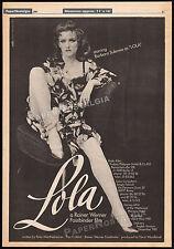 LOLA__Original 1981 Trade AD / poster__RAINER WERNER FASSBINDER__Barbara Sukowa