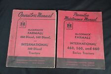 Original IH Mccormick Farmall 460 560 International 560 Diesel Set of Manuals