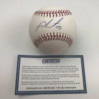 Autographed/Signed JD J.D. MARTINEZ Red Sox Rawlings ROML Baseball Steiner COA