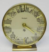 mid century clock 60s - Messing Tisch Uhr Junghans Stuttgart Motiv Tischuhr 60er