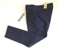 NWT Ann Taylor Loft Womens Petite Blue Pinstripe Skinny Ankle Pants 4P 6P 8P 10P