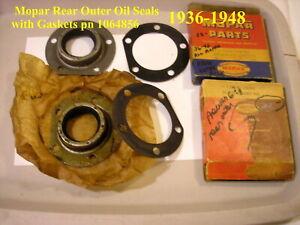 1936-1942 Mopar Plymouth Dodge DeSoto Chrysler Rear Outer Oil Seals pn 1064856