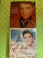 ELVIS COLLECTOR'S EDITION TIN THE VERY BEST OF LOVE & HOME FOR THE HOLIDAYS CDS