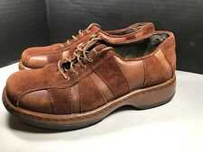 DANSKO Women's Brown Leather suede Lace Up Oxfords Clogs EUR 37 US 6.5