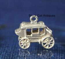 Unique Vintage Sterling Silver Stagecoach, Western Stage Coach Charm