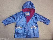 Girls WIPPETTE KIDS FLEECE Lined RAIN Jacket FLOWER DETAILS   SZ 3