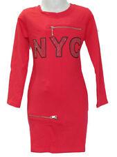 Robes rouge coton mélangé pour fille de 2 à 16 ans