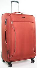 "Calvin Klein Warwick Collection 21"" Spinner 8 Wheeled Carry On Luggage - Orange"
